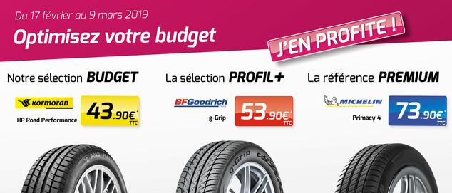 Fourchette prix 205 55 16 91V