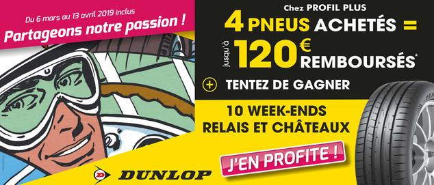 Dunlop : Partageons notre passion ! (offre du moment seul)