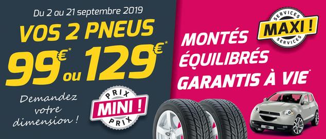 Mini Prix ! Maxi Services ! (pack à 99€)