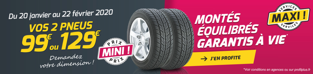 Mini Prix ! Maxi Services ! (pack à 99€) - Janvier 2020