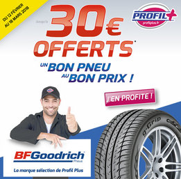 BFGoodrich : 30€ offerts en carte Illicado !