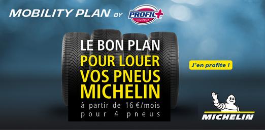 Louez vos pneus avec Mobility Plan