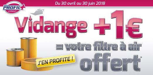 Vidange + 1€ = Filtre à air Offert