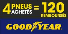 Promo Goodyear : 120€ remboursés
